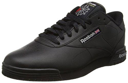 Reebok Herren Ex-O-Fit Lo Clean Logo INT Sneakers, Schwarz (INT-Black/Silver/Silver), 43 EU