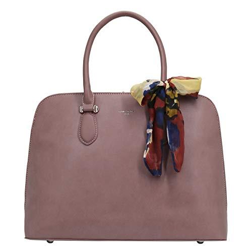 David Jones - Damen Große Bugatti Handtasche - Tote Henkeltasche PU Leder - Shopper Bowling Bag - Große Kapazität Schultertasche Umhängetasche - City Tasche Mode Elegant - Rosa