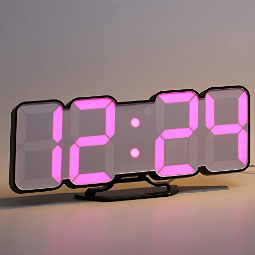 Full color 3DLED digital clock remote control temperature alarm sound control variable 115 color wall stereo wall clock (Alarm Remote Clock Control)