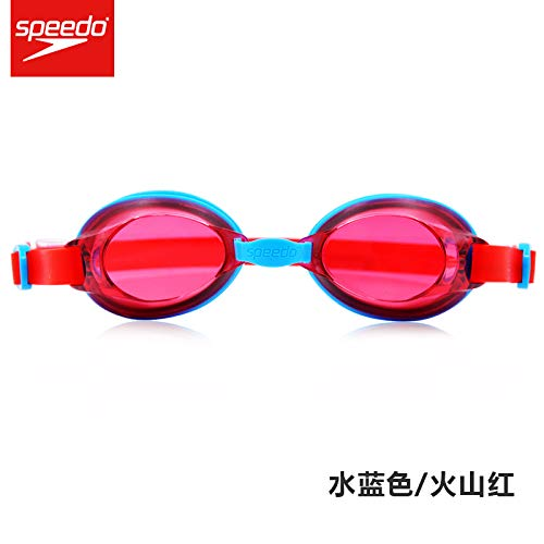 jsauwi Swim Goggles Swimming Goggles Adult Waterproof and Anti-Fog HD Swimming Goggles, red