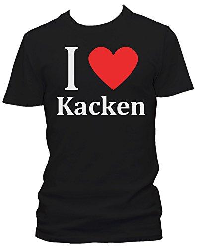 I love Kacken FUN Herren T-Shirt, Größe:L;Farbe:schwarz