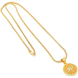 Handicraft Kottage ® 1gm 22Ct gold plated Pandent/Necklace/Jewellery Set/Fashion jewellery/Chain for Men/Women/Girls