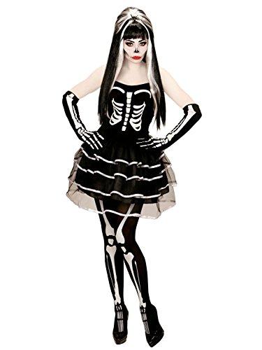 KULTFAKTOR GmbH Bezaubernde Skelett-Braut Halloween Damenkostüm Untote Plus -