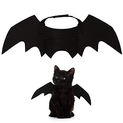 Skelett Kostüm Süßes - XJIUER Halloween Dekoration Süße Halloween Kostüm kleine Haustierflügel Halloween Katzenflügel Halloween Katzenzubehör s