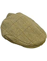 Gorra tipo cazador Walker & Hawkes, de tweed, unisex, chata, color verde