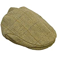 Gorra tipo cazador Walker & Hawkes, de tweed, unisex, chata, color verde salvia claro
