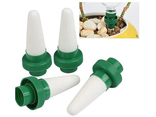 Yter 4 Unids/Set Riego de Riego Automático Spike Garden Planta de Flores de Hierba Al Aire Libre Drip Water Sprinkler Drippers Set-White + Green