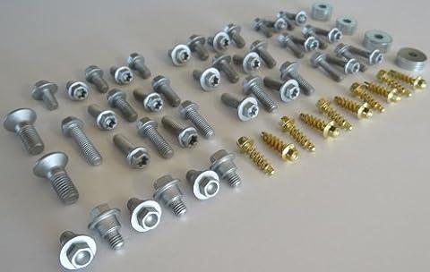 76pc Specbolt KTM BODY BOLT KIT for plastics, seat, fenders, fork guards, shrouds, & subframe. Fits KTM 60 65 80 85 125 150 200 250 350 400 450 500 520 525 SX SX-F XC XC-F XC-W XCF-W EX EXC EXC-F MODELS