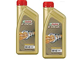 2x 1 L = 2 Liter Castrol Edge Fluid Titanium 0W-40 A3/B4 Motoröl inkl. Castrol Ölwechselanhänger