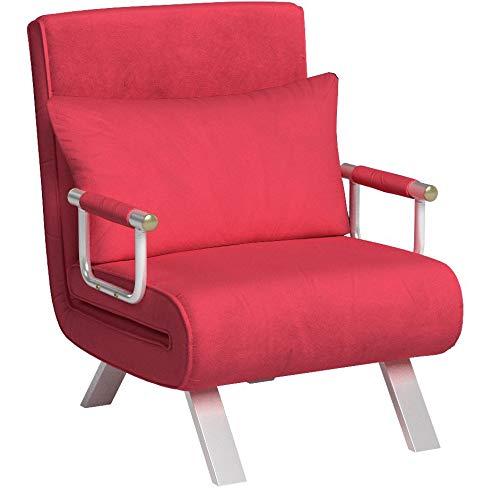 italfrom divano letto sofa bed rosso divani 67x69x83h divanetti divano letto 1 piazza
