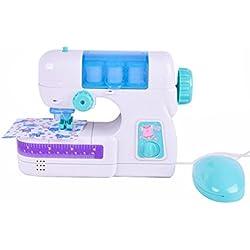 MYQyiyi Mini Juguete de Máquina de Coser para Niños,Simulación de Juegos de Plástico de Pequeños Electrodomésticos (Blanco)