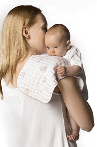 SwaddleDesigns Baby-Spucktücher aus Baumwollmusselin, 2er Set, Schmetterlinge, Pastellrosa