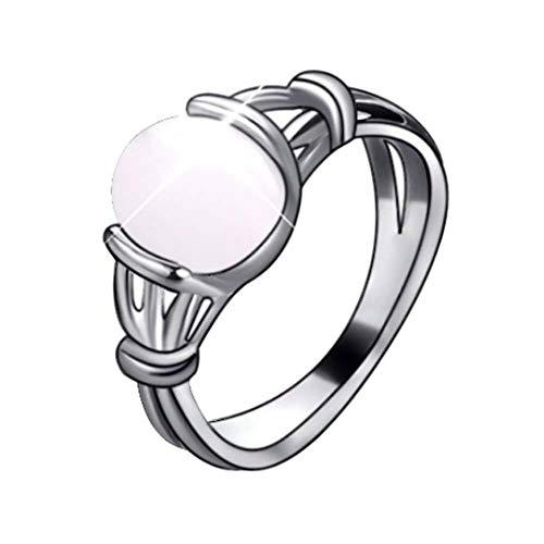 WZYMNJZ Mode Mondstein Zink Legierung Bella Stein Ringe Geschenk Für Frauen Mädchen -