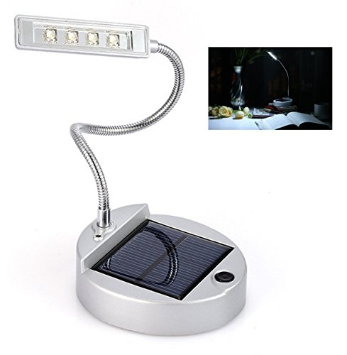 Eplze® LED Bureau Lampe 4-LED Mini Solaire Table Lampe