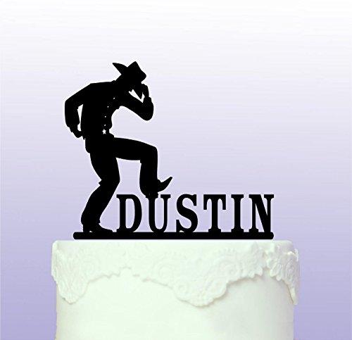 Personalisierte Cowboy Western Tortenaufsatz Custom Tortenaufsatz, für junge Mädchen Party Geburtstag Geschenk für Damen Herren Geburtstag Party Dekorationen Gastgeschenken Topper