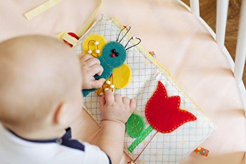 ComfortBaby ® Lernbuch / Spielbuch / Entdeckungsbuch / Babybuch - KAEFERCHEN IM WALD - ab 3+ Monate