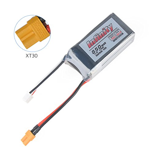 Price comparison product image Infinity 850mAh LiPo Battery Graphene LiPo 70C 3S 11.1V XT30 Connector for FPV Racing Drone