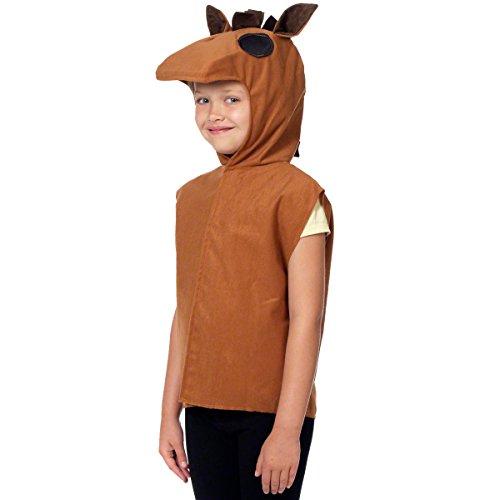(Pferdekostüm für Kinder - Einheitsgröße 3-9 Jahre.)
