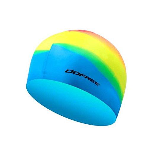 Black Temptation Professionelle spezielle Silikon-Schwimmen-Kappe ungiftige Silikon-weiche Schwimmen-Kappe, A 3