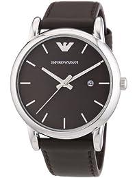 Emporio Armani AR1729 - Reloj para hombres, correa de cuero color marrón