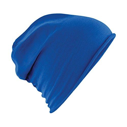 Damen und Herren Jersey Beanie Sommermütze / Frühlingsmütze in royalblau