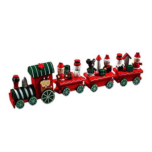 VWH Creative Mini Zug Spielzeug Holz Weihnachtsgeschenk Weihnachten Dekoration (en) (Weihnachten Zug Dekorationen)