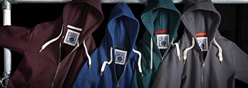 Charles Wilson Original-Kapuzenpullover mit Reißverschluss Dunkles Marineblau