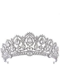 Frcolor Wedding Bridal Rhinestone Crown Headband Tiara for Women