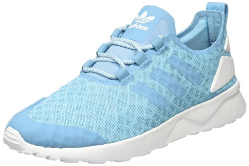 adidas Damen Zx Flux Adv Verve Sneakers Blau (Blanch Sky/Blanch Sky/Core White)