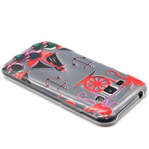 Voguecase® für Apple iPhone 5C, Schutzhülle / Case / Cover / Hülle / TPU Gel Skin (NEW YORK) + Gratis Universal Eingabestift rotes Boot