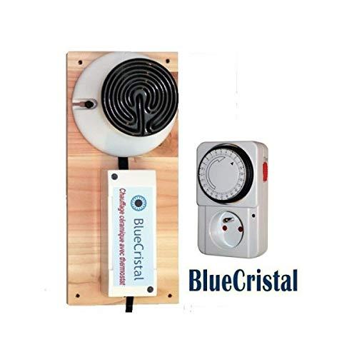 Blue Cristal Chauffage céramique 100 W avec Thermostat...