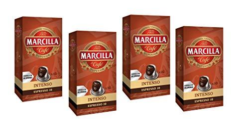 Marcilla Café Intenso Intensidad 10 - 40 cápsulas de aluminio compatibles con máquinas Nespresso...