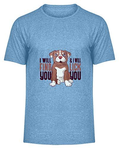 Hunde WELPEN T-Shirt Hund Dog Geschenk - Chemise Hommes Melange -XL-bleu ciel bruyère -