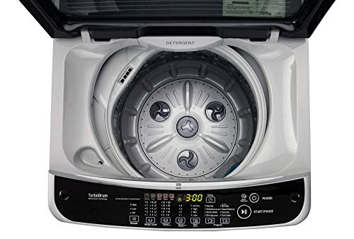LG 6.2 kg Fully-Automatic Top Loading Washing Machine (T7281NDDLG/ T7288NDDLG/GD, Middle Free Silver)