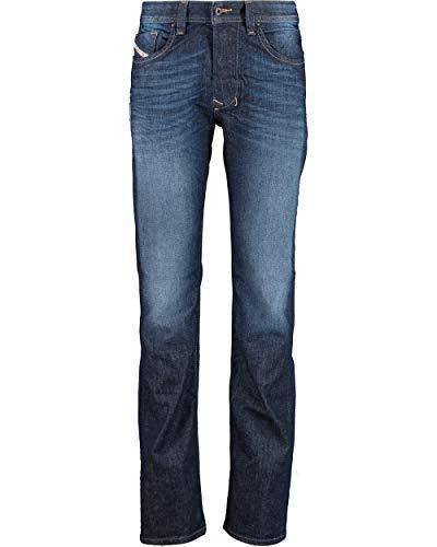 Diesel Larkee 0RM31 RM31 Straight Cut Jeans Herrenjeans Hose Blau Dunkelblau (W32/L32)