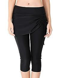 775a14d06cb04 Pantalon Leggings de Bain Femme avec Jupette Bas de Maillot de Bain Jupe  Legging 3