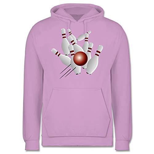 Shirtracer Bowling & Kegeln - Kegeln alle 9 Kegeln Kugel - XS - Lavendel - JH001 - Herren Hoodie