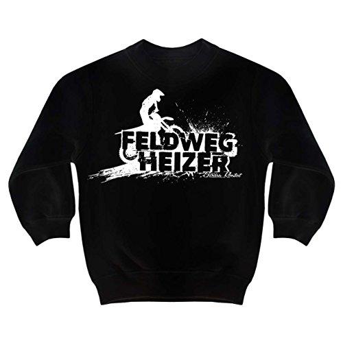 Kinder Pullover Feldwegheizer (mit Rückendruck) Größe 98 - 164 (Motorrad-kinder Sweatshirt)
