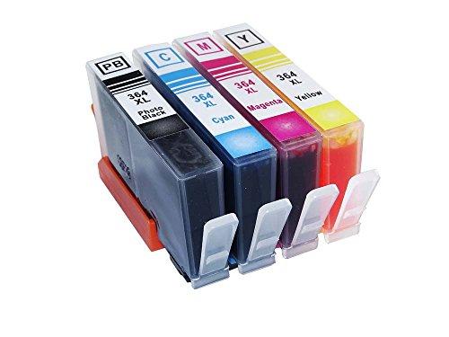 TIAN - 4 x HP Combo Pack Kompatibel 364 XL Tintenpatronen, zu...