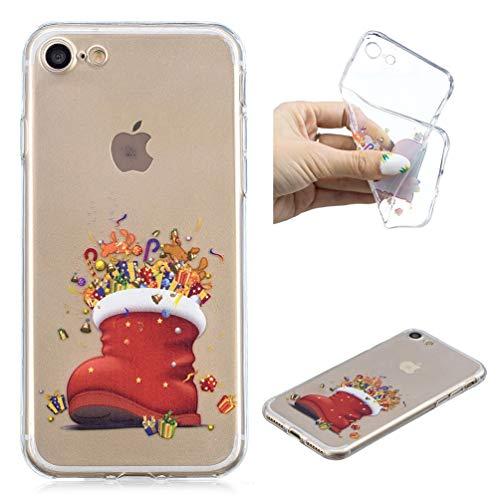 Hülle für iPhone 7 / iPhone 8, Gemalt Handyhülle Case, Soft TPU Schale Schutzhülle handytasche Anti fallen Stoßdämpfung Cover in Geschenk ()