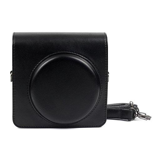 [Instax Square SQ6 Tasche] - CAIUL Kameratasche Schutzhülle mit Weichem PU Leder Material für Instax SQ 6 Ex D Sofortbildkamera (Schwarz) Square Hülle Case