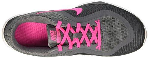 Nike Flex Trainer, Chaussures de Fitness femme Gris (Cl Gry / Pnk Blst-Drk Gry-Anthrc)