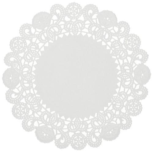 HOFFMASTER la9052m brooklace Spitze Deckchen, rund, 12,7cm weiß (Fall 2000Stück) - Doily Fall