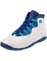 finest selection 3d64a 8daba Jordan Jordan310807-107 - Nike 10 Retro Bianco/Blu/Nero 310807-107 Unisex -  Kids, Bambino, White/Concord…