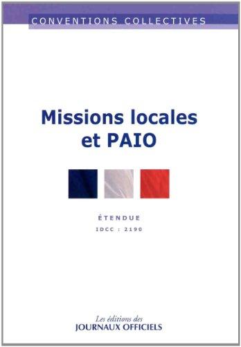 Missions locales PAIO - Convention collective 5ème édition - Brochure n°3304 - IDCC : 2190