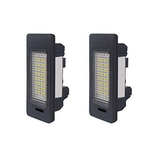 Fastcar 2PCS LED luce targa Auto luce della targa Bianco 12V per E82 E88 E90 E90N E91 E92 E93 M3