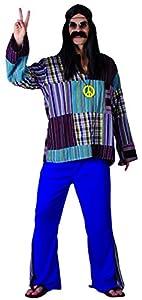 Rire et Confetti Fiahip011 - Disfraz de hippie Luxe para hombre (talla M)