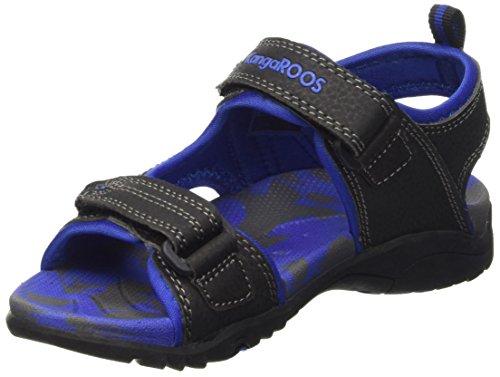 KangaROOS Sinclair 2, Wandern Sandale Unisex Kinder, schwarz - Noir (Black/Royal Blue 540) - Größe: 32