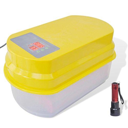 Vidaxl - incubatrice automatica per 15 uova di gallina, con controllo di temperatura