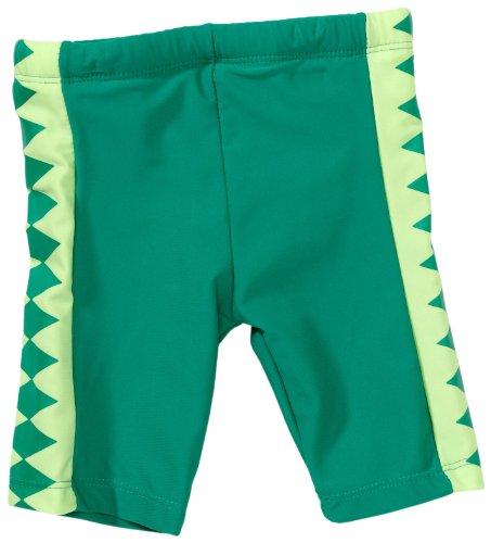 Playshoes Unisex - Baby Babybekleidung/ Badebekleidung UV-Schutz nach Standard 801 und Oeko-Tex Standard 100 Badehose Shorty Krokodil mit Windeleinsatz 460028, Gr. 62/68, Grün (900 original)